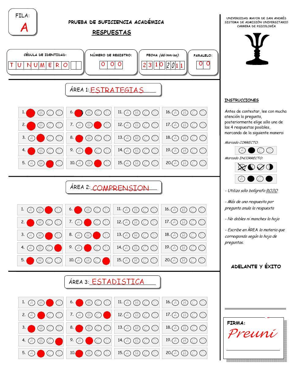 Hoja De Respuestas Examen De Ascenso Categoria 2013 | Consejos De ...
